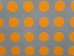 """2/"""" Blank BR//ORANGE Circle Code Coding Inventory Stickers Dots 500 labels p//r"""