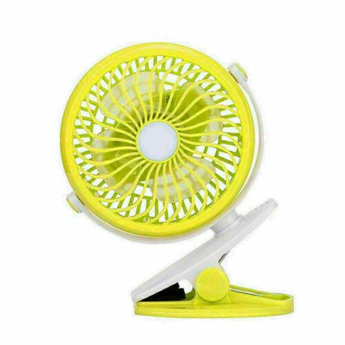 US Mini USB Rechargeable Battery Portable Fan Clip on The Baby Stroller Desk Fan