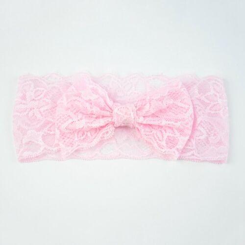 Baby Girls Headband Soft Lace Bow Elastic Hairband Kids Hair Accessories UK Sale