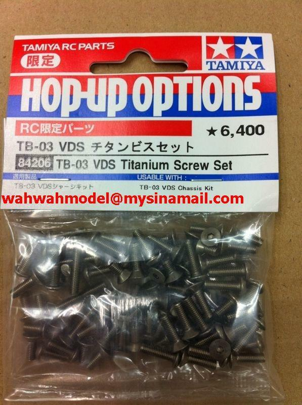 Tamiya 84206 RC TB03VDS Titanium Screw Set