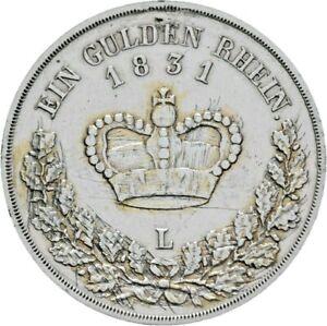 Altdeutschland-Rar-Sachsen-Meiningen-Gulden-1831-Herzog-Bernhard-AKS-186a-M41