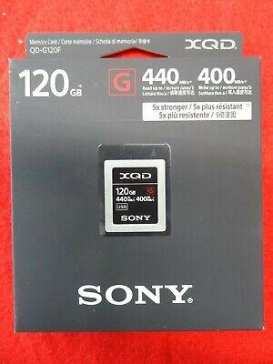 QD-G120F NEW Sony 120GB 440MB//s XQD G Series Memory Card