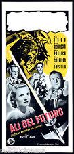 ALI DEL FUTURO LOCANDINA CINEMA BREAKING THE SOUND BARRIER 1952 PLAYBILL POSTER