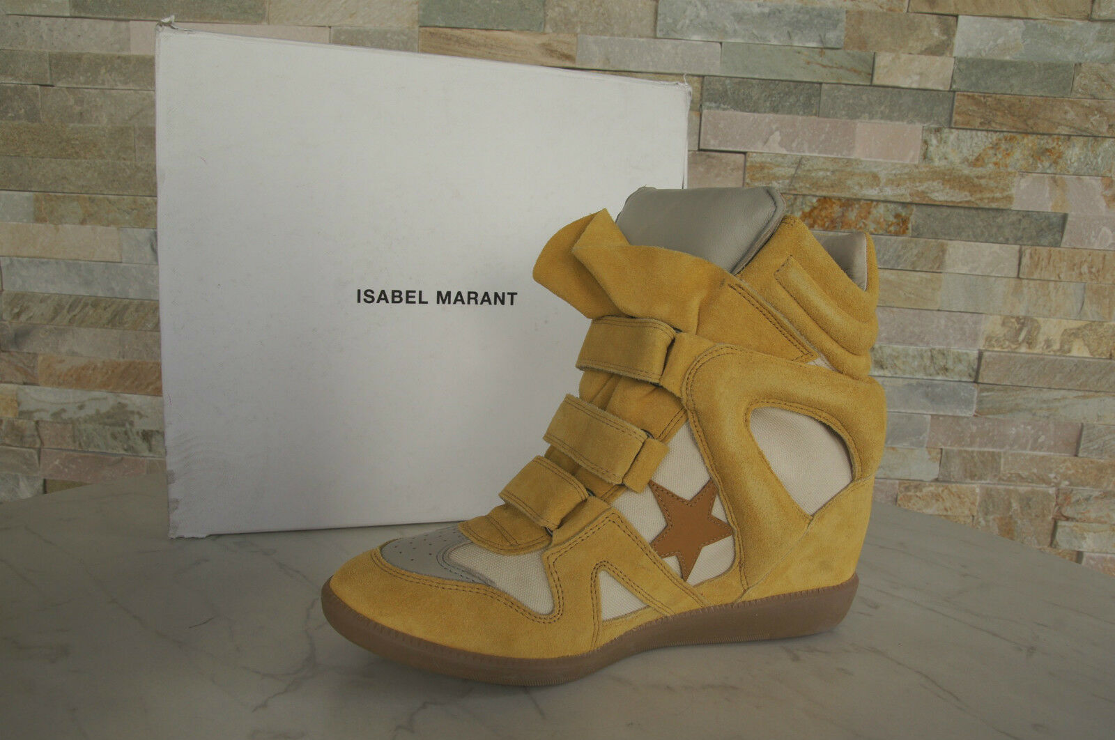Isabel Marant 41 High Top Booties zapatillas botines Booties Top Bayley amarillo 896aed