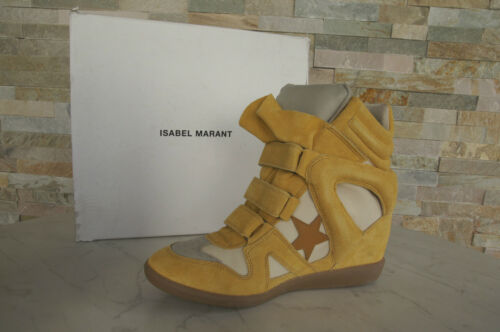 Sneakers 41 Marant 395 Bayley € Uvp Isabel High Yellow top arrivato Nuovo 65Exq1wT1