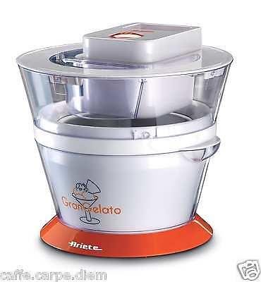 Ice Cream Maker 135W macchina gelato ARIETE 693 Gran Metal Gelatiera 1 Litro