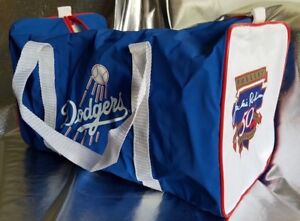 32f840c18 Image is loading LOS-ANGELES-DODGERS-JACKIE-ROBINSON -50th-ANNIVERSARY-DUFFLE-