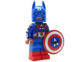 Captain Bat Red White n/' Blue CUSTOM LEGO