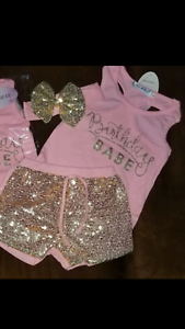 MY FIRST 1st CAKE SMASH OUTFIT GOLD GLITTER SEQUINED OUTFIT PHOTO SHOOT