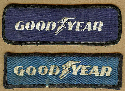 2 Different GOOD YEAR Tire Employee Uniform Sew on Patches, Racing Team Patch