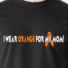 I wear orange for my mom! Fight Cancer 25% Donation to Leukemia Funny T-Shirt