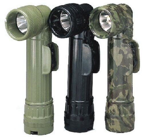 Rothco 688/689 Army Style Black D-Cell Flashlights - Blk - Grn Or Camo
