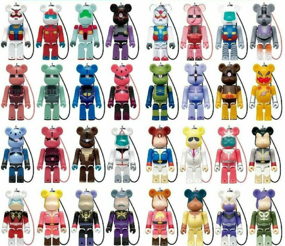 Medicom bearbrick 70% Gundam Vol.1 + 2 complete 32pcs set Pepsi keychain NEW F S