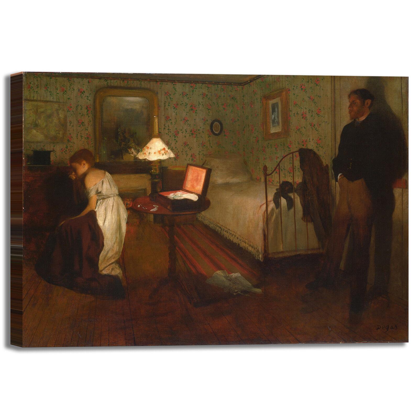 Degas o interno design quadro stampa tela dipinto telaio arRouge o Degas casa a2cdf7