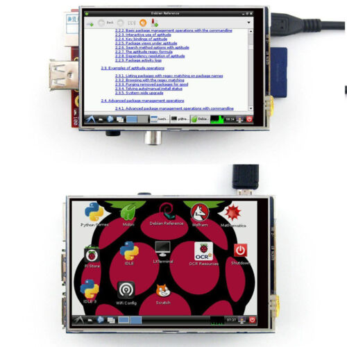 """Board 3.5/"""" TFT LCD Module Touch Screen Display Monitor For Raspberry Pi B B  A"""