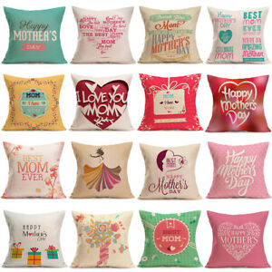 21b4036ee08 New Mother's Day Pillow Case Gift MOM Decorative Throw Cotton ...