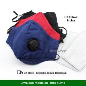 Masque-reutilisable-de-protection-en-tissu-lavable-avec-valve-2-filtres