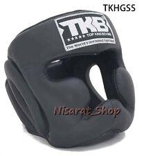 TOP KING HEADGEAR GUARDS TKHGSS-02 SNAKE SKIN GOLD BLACK PROTECTOR MUAY THAI MMA