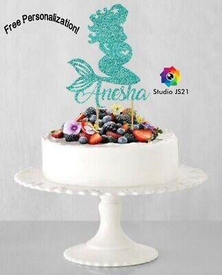 Mermaid Cake Border Baby Shower Wedding Party Cake Topper Decorations Kids UK