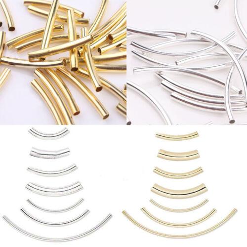 Wholesale Courbé tube argent or Coude Noodle Spacer Loose Bead Bijoux Bricolage