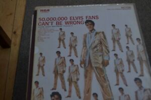 ELVIS PRESLEY   50,000,000 ELVIS FANS CANT BE WRONG      LP VINYL   RCA LSP 2075