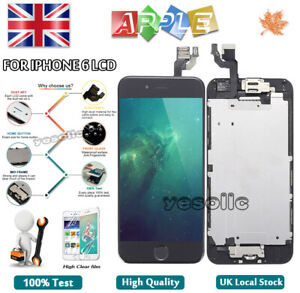For-iPhone-6-LCD-Screen-Touch-Display-With-Home-Button-Camera-Replacement-Black