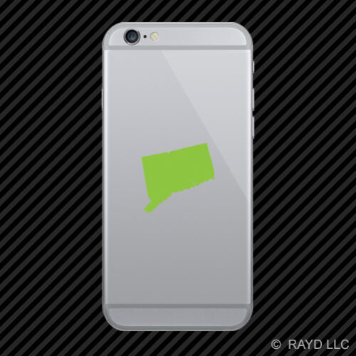2x Connecticut Shaped Cell Phone Sticker Mobile CT many colors