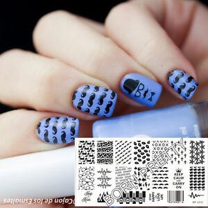 das bild wird geladen born pretty nagel schablone nail art stamp stamping - Nagel Muster