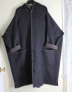 0 Rich 44 Eskandar Super Wool Boxy New Hooded Charcoal 0 44 Rich Eskandar Cashmere Cashmere Boxy Charcoal Wool Hooded New Super PI7Rwq