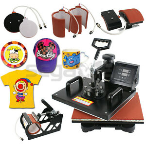 Used 6in1 Combo Digital Transfer Sublimation Heat Press