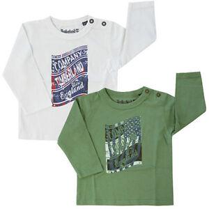 Timberland-Manga-Larga-Logo-para-Ninos-Bebes-Algodon-Camisetas-Top-T0C16-UA106