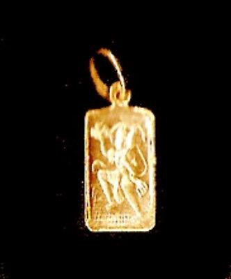 LOOK New 24kt Gold Plated Hindu Lord Hanuman Monkey OM Charm