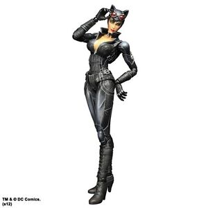 Batman-Catwoman-Arkham-City-Play-Arts-Action-9-034-Figur-Kai-Brandneu-Verpackt