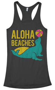 Image Is Loading Aloha Beaches Women 039 S Racerback Tank Top