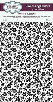CREATIVE EXPRESSIONS A4 Embossing Folder by Sue Wilson RAMBLING BLOSSOM EF-026