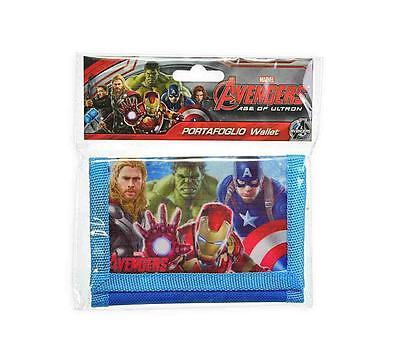 Cordiale Portafoglio Portamonte Bambino Avengers Iron Man Hulk Thor Capitan America Elegante Nello Stile