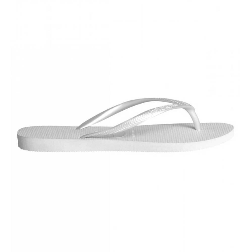 392b44055630 Havaianas Slim Womens US Size 4 White Flip Flops Sandals Shoes