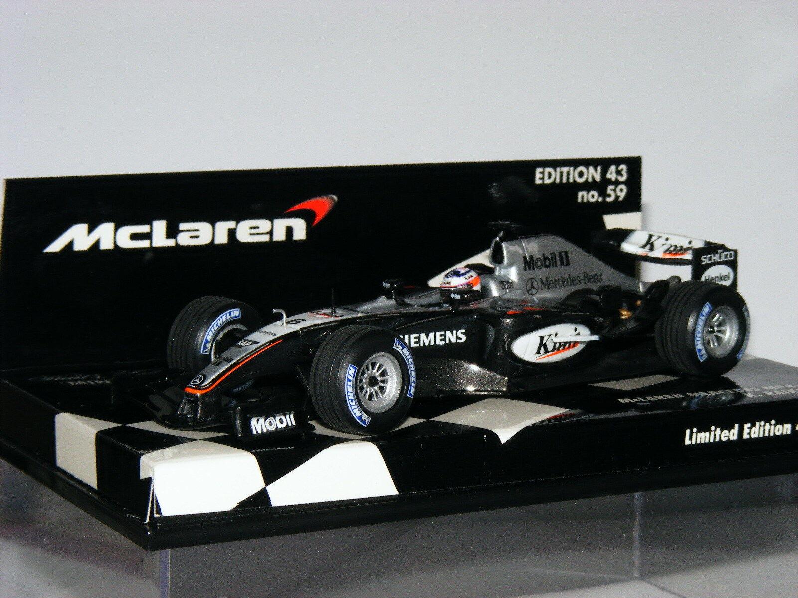 Minichamps McLaren Mercedes Mercedes Mercedes MP4 19B Kimi Raikkonen MLC-59 1 43 968d0d