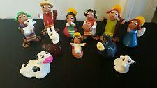 Small Nativity  Sets HAND MADE 11 pieces Rare inca peru bolivia