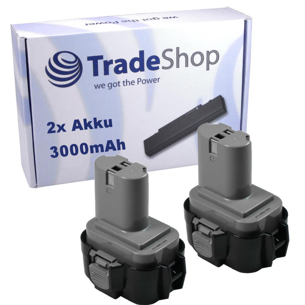 2x Akku für Makita 9,6V 3000mAh Ni-MH für 6090DWD 6203D 6203DWAE 6203DWBE