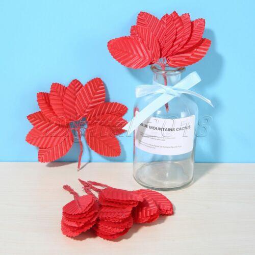 100x Festive Flowers Bouquet Wreath Leaves Wedding Party Garland Leaf Home Decor