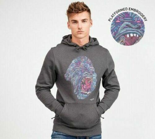 Mens Hoodie Alessandro Zavetti Rage Mens original designer Hoodie Asphalt Grey