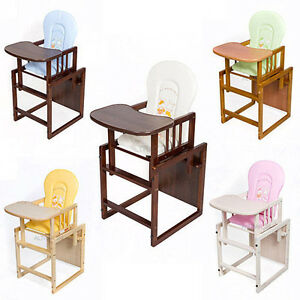 kinder kombi hochstuhl verstellbar holz baby tisch blatt high feeding chair. Black Bedroom Furniture Sets. Home Design Ideas