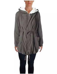 Sherpa beklædning Hooded Nwt Retails Anorak 95 Frodige Kvinder Overtøj Jacket Olive XwqWAXdCgx