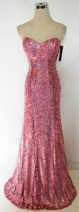 NWT-FAVIANA-450-Vintage-Pink-Formal-Prom-Ball-Gown-8