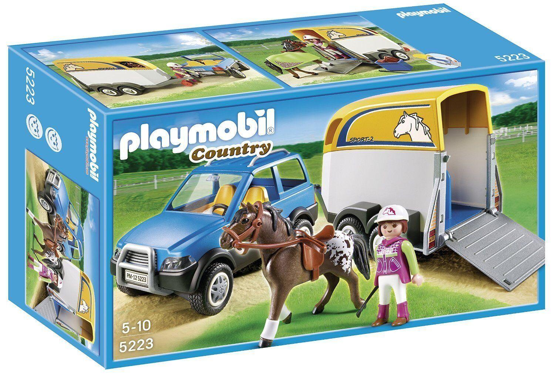 Playmobil 5223 - Vehículo con remolque para Ponis - NUEVO
