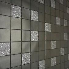 89130 Fliesen auf einer Rolle Granit Schwarz Küche & Badezimmer Tapete