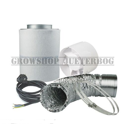 Belüftungsset für Grow Lüftungsset 125mm 185m³//h AKF Abluft Abluftset Growbox