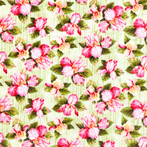 50cm x 55cm 1 Fat Quarter Petal Me Pink Floral Cotton Quilting Fabric