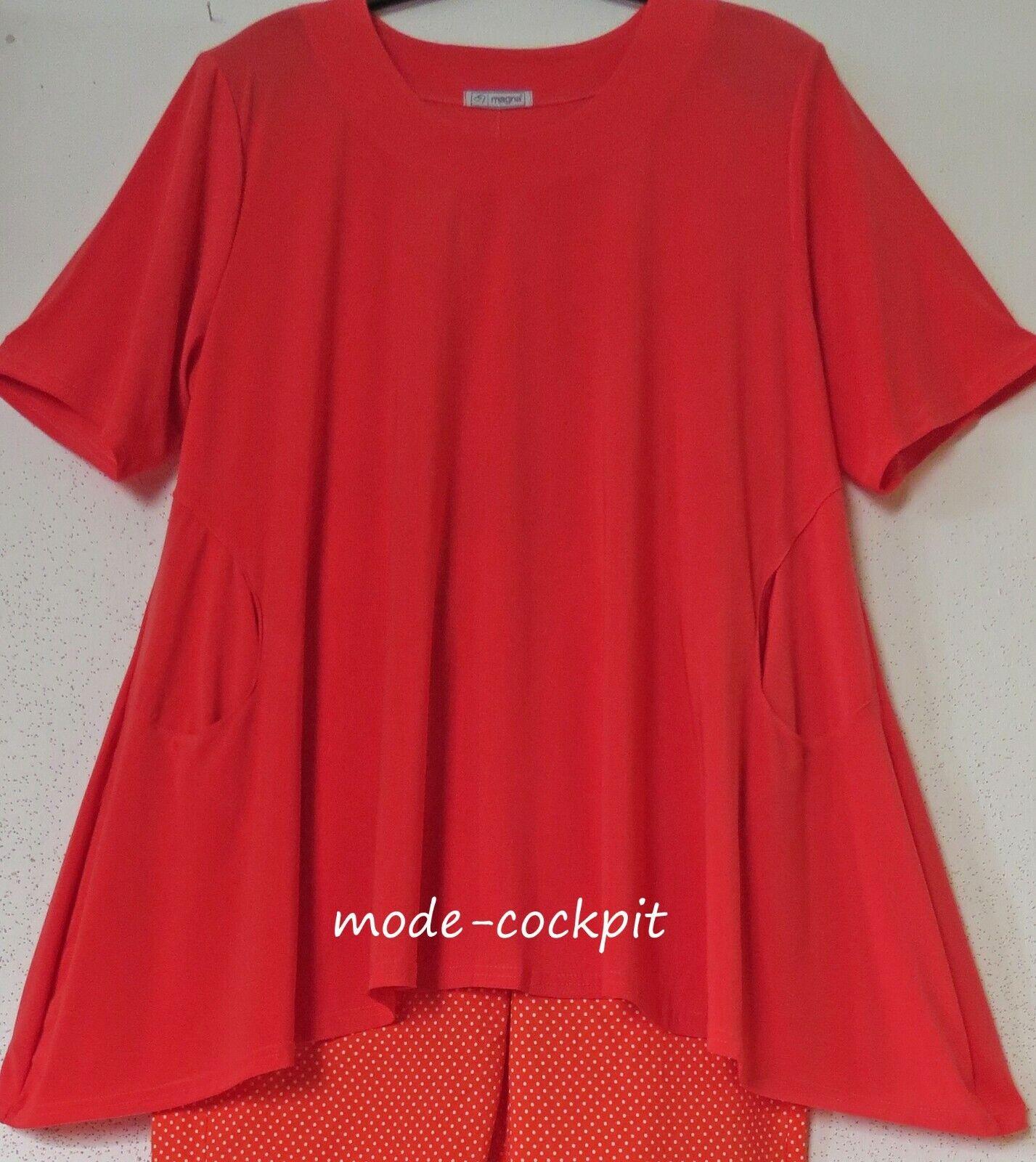 MAGNA tolles Oversize Shirt Tunika super A-Linie+Taschen new koralle 48-50